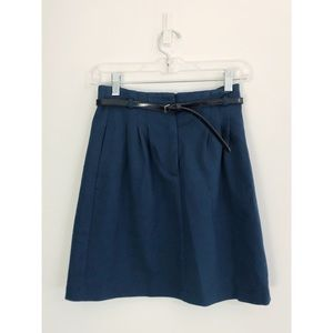 Theory Teal Pencil Skirt with Belt